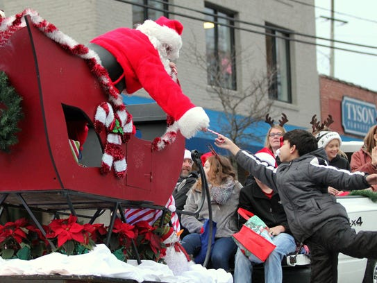 Santa will once again make his annual appearance at the ever-popular Black Mountain Christmas parade.