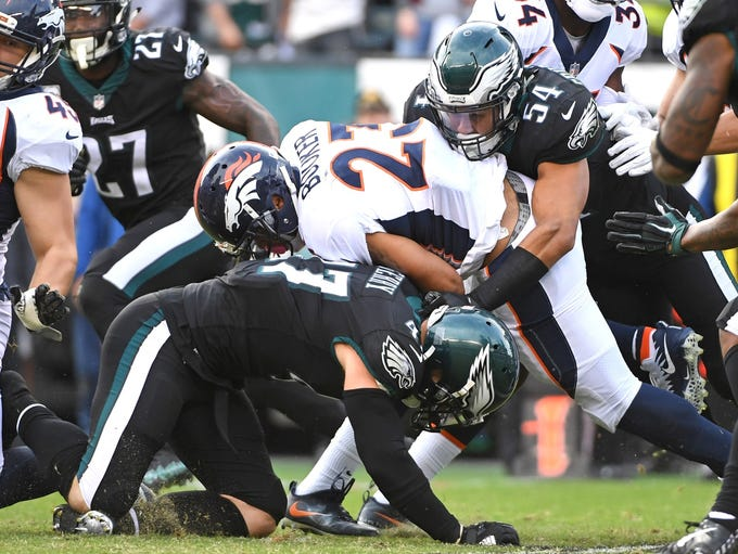 Philadelphia Eagles linebacker Nate Gerry (47) and