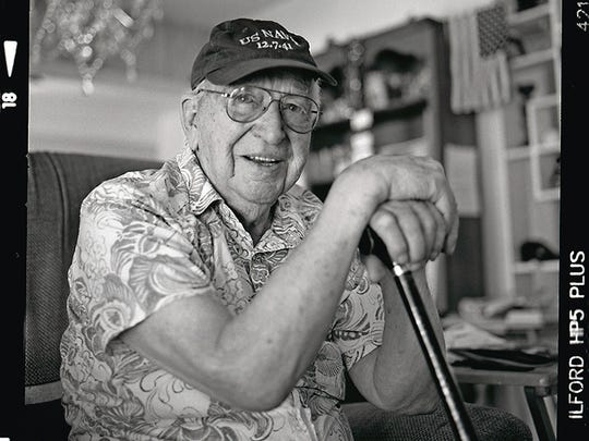 Lauren Bruner was one of six sailors that escaped from the USS Arizona by climbing hand over hand across a hemp rope that had been thrown over from the repair ship Vestal. He suffered serious burns but recovered and continued to serve through World War II.