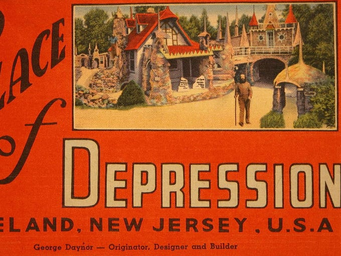 Palace of Depression postcard. This amusement was known