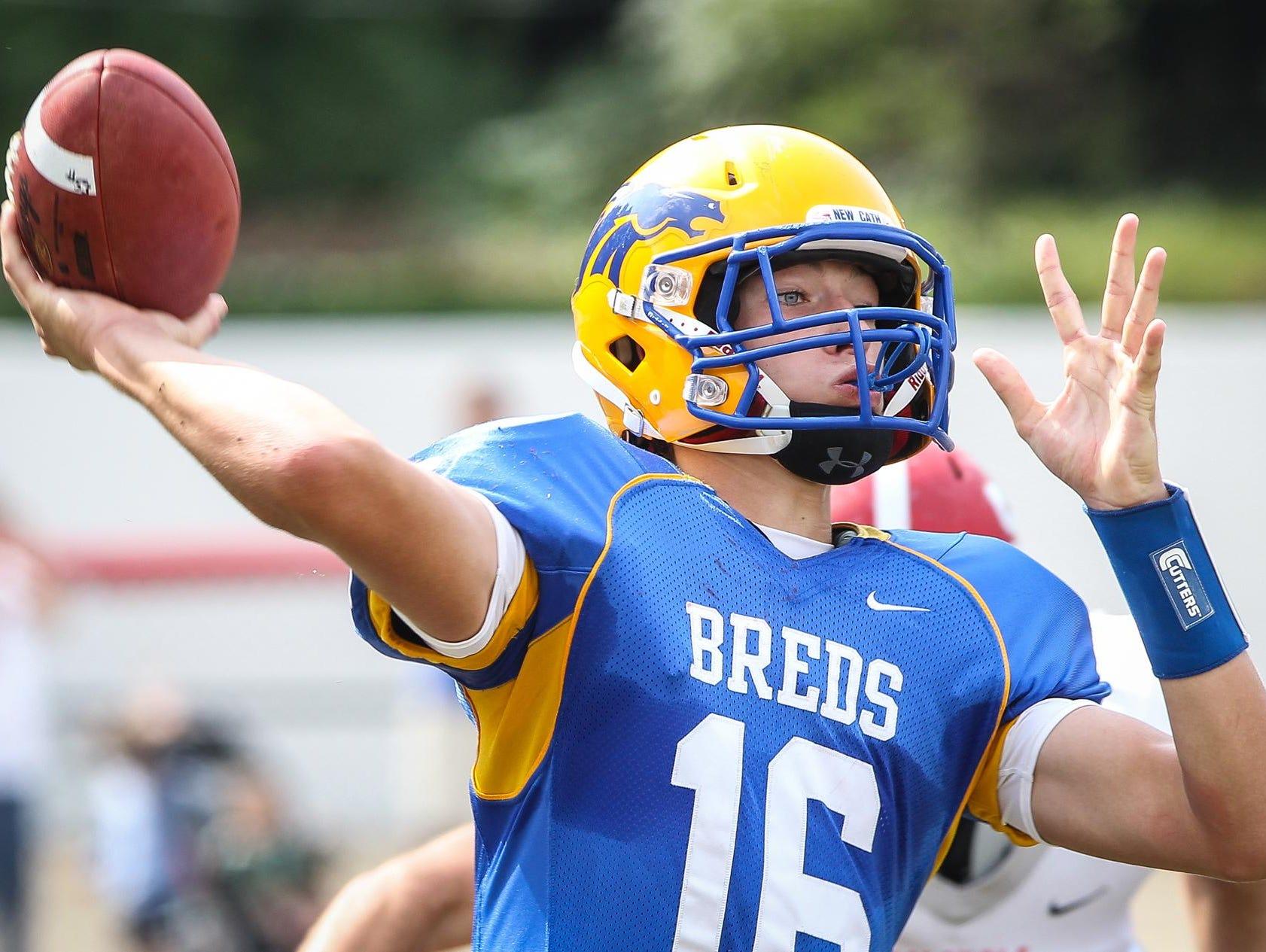 Junior Patrick Henschen begins his second season as Newport Central Catholic's quarterback.