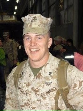 Sgt. Adam Schoeller is one of 12 missing Marines after two helicopters crashed near Oahu.