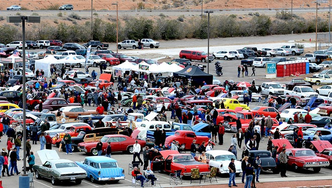Car enthusiasts attend the 2016 Mesquite Motor Mania. This year's event will feature more than 700 cars.