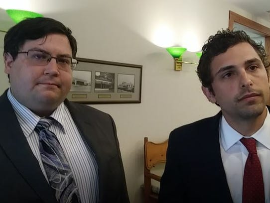 Attorneys Joseph Coleman, left, and Zachary Lombardo