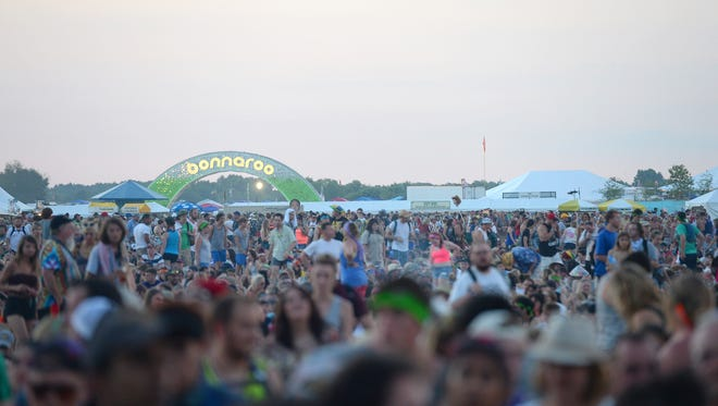 A general view of atmosphere during the 2014 Bonnaroo Music & Arts Festival on June 14, 2014 in Manchester, Tennessee.