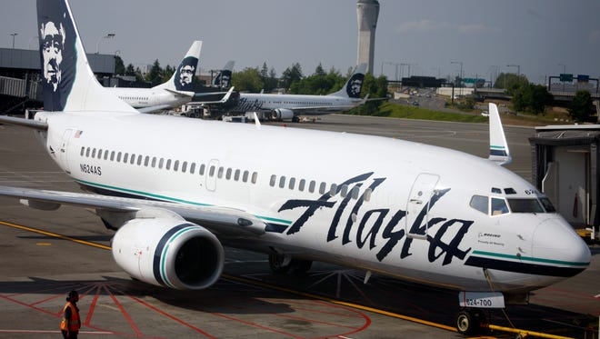 This file photo from June 11, 2009, shows Alaska Airlines jets at Seattle-Tacoma International Airport.