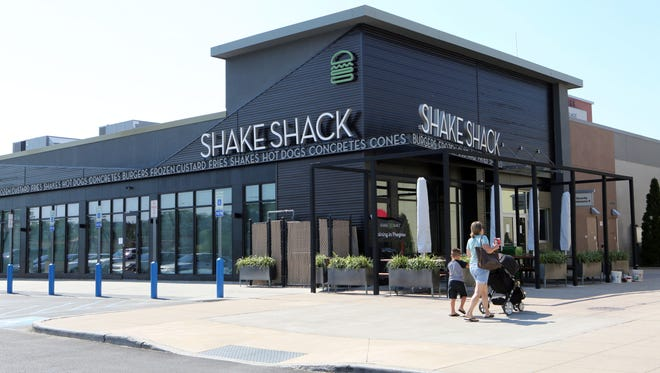 The exterior of the new Shake Shack opening in Cross County Center in Yonkers, photographed July 18, 2016.