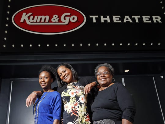 """Pyramid Theatre Compnay co-founder Tiffany Johnson, center, will direct """"A Raisin in the Sun"""" this summer in the company's inaugural season. She's shown here with fellow company leaders Alexis Davis and Claudine Cheatem."""