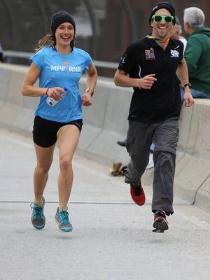 Nutritionist Natalie Thompson is also an avid runner, seen here in the New York City Marathon.