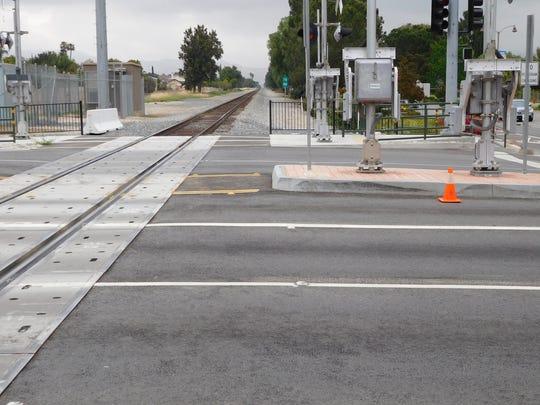 Simi Valley train tracks.