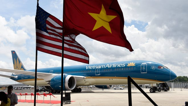Boeing celebrated its first Vietnam Airlines 787 Dreamliner at a special ceremony at Washington Reagan National Airport on July 6, 2015.