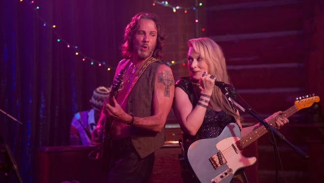 """Rick Springfield and Meryl Streep perform with the Flash at the Salt Well in """"Ricki and the Flash."""""""