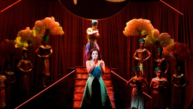 """As the narrator for the national tour of """"Joseph and the Amazing Technicolor Dreamcoat,"""" Laura Helm helps to tell the story through spoken word and song."""