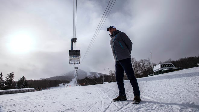 Jay Peak Resort Manager Steve Wright checking out the snow last year.