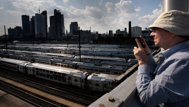 Jim Venturi looks out over Sunnyside Yard in Queens on Aug. 9.