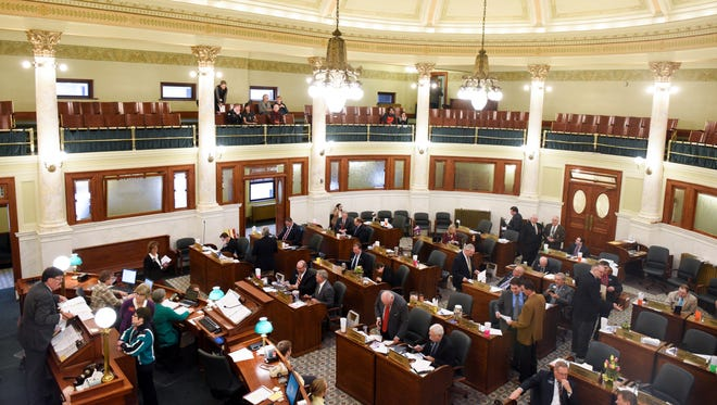 The senate chambers on Wednesday Jan. 10, 2018 in the capitol building in Pierre, S.D.