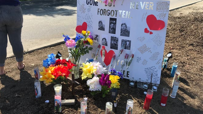 Family of a Visalia boy killed in a single-vehicle crash placed a memorial at the scene of the crash.