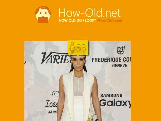 Kim Kardashian is actually 34.
