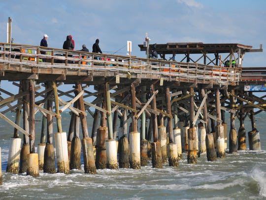 It ws hats and hoodies for fishermen on the pier Sunday. The Space Coast experienced the coldest tempetatures of the season Saturday night into Sunday, with high winds making the wind chill a factor.