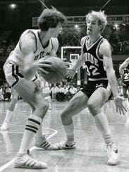 Kevin Stallings, right, played for Purdue's 1980 Final