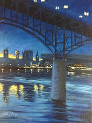 """Mike C. Berry's acrylic on linen called """"Gay Street"""