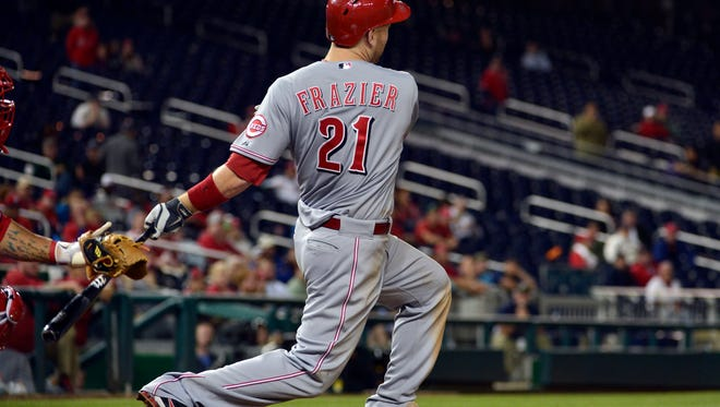 May 19: Todd Frazier's homer in top of 15th vs. Nationals  With one out in the top of the 15th, Frazier homered off of Washington's Ross Detwiler, scoring Brandon Phillips, to give the Reds a 4-2 lead in their 4-3 win.