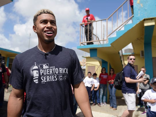 Indians All-Star shortstop Francisco Lindor visits
