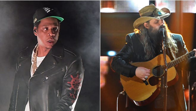 JAY-Z, Chris Stapleton, Kendrick Lamar and SZA all scored five or more Grammy nominations on Tuesday.