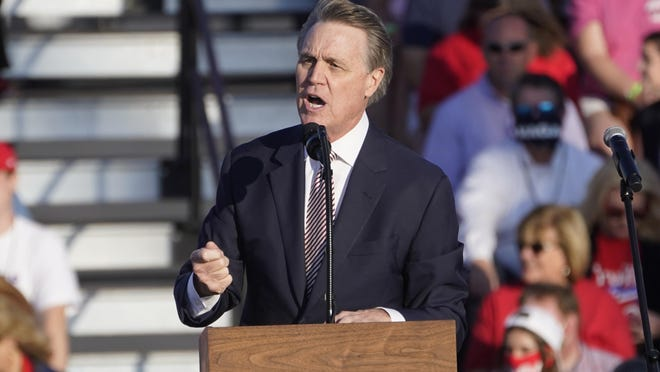 A Vox caller criticizes Georgia Sen. David Perdue for his comments at a recent rally for President Donald Trump in Macon.
