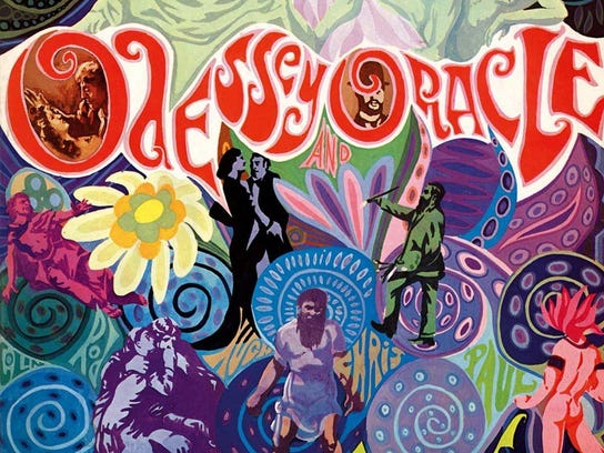 """The cover for The Zombies' """"Odessey and Oracle"""" album."""