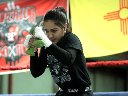 """Marisol """"Dangerous Denogean works out in the ring with"""
