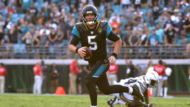 Jaguars quarterback Blake Bortles has 11 touchdowns and seven interceptions this season, but he faces the Browns in Week 11.