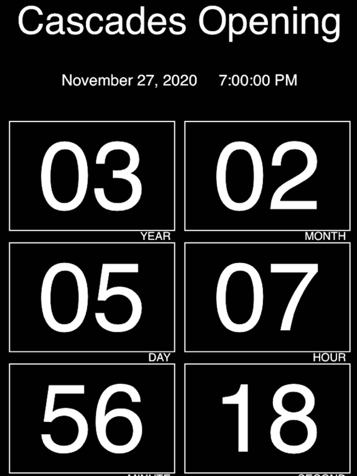 On Sept. 22, a countdown clock shows the exact time
