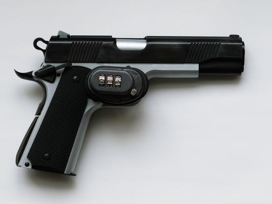 Gun with Trigger Lock