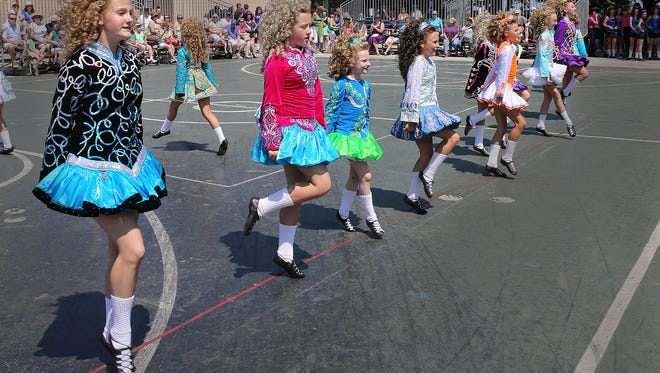 Members of the Cashel Dennehy School of Irish Dance show off their skills.  at Irish Fest in 2015 at the Summerfest grounds.