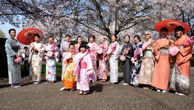 See a Japanese kimono fashion show during Cherry Blossom Day at the Oregon State Capitol March 18.