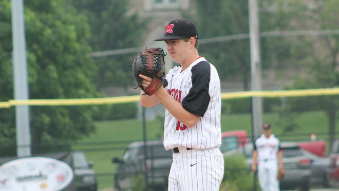 Mitch Mierke pitched 7 innings for Milford allowing just one run in the Eagles 2-1 nine-inning loss to Centerville in the Division I district final.