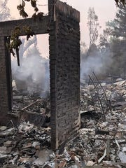 What remained of a home July 27, 2018, in Lake Redding