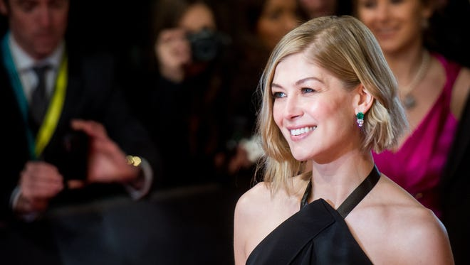 Rosamund Pike attends the British Academy of Film and Television Arts Awards at the Royal Opera House on Feb. 8, 2015, in London.