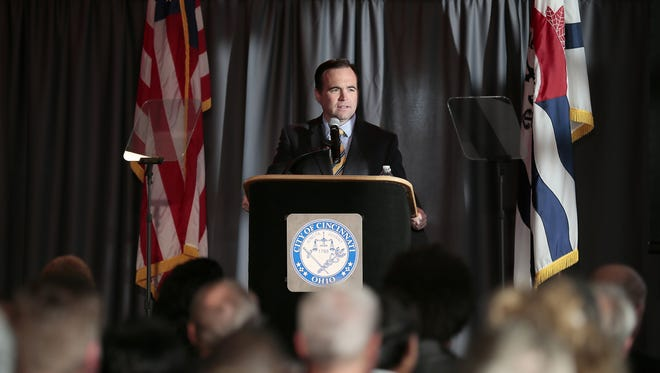 Mayor John Cranley talks about his task force to reduce Cincinnati's child poverty rate  during his State of the City speech last month.