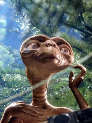 E.T. tries to phone home in a scene from 'E.T. The