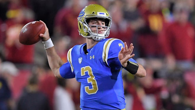 UCLA's Josh Rosen figures to be a top five pick in the NFL Draft.