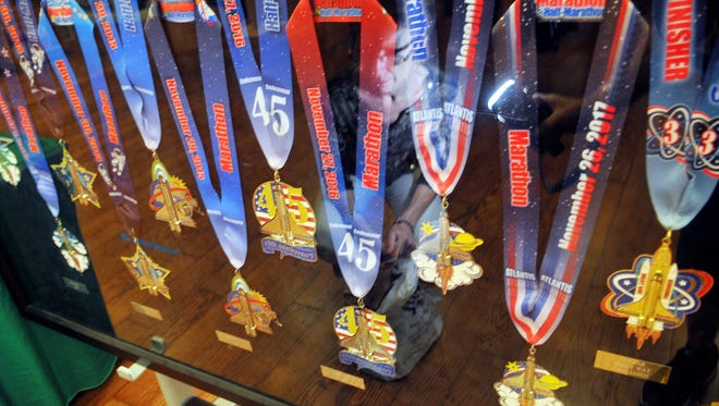 The Big Bang Series of medals for the Space Coast Marathon have greatly increased the popularity in runs in Brevard County.