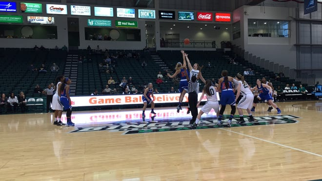 The Binghamton University women's basketball team tipped off America East Conference play on Saturday in the Events Center