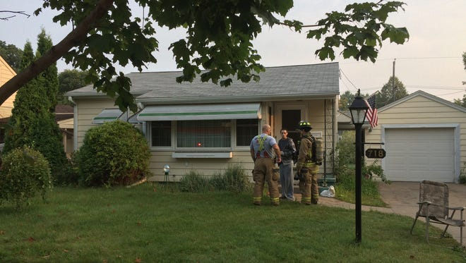 Police were called to the home Tuesday morning for a report of smoke. A reporter on scene said the smoke was coming from a drier vent.