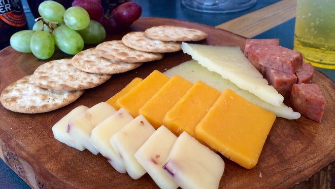 A cheese tray from Perk & Brew