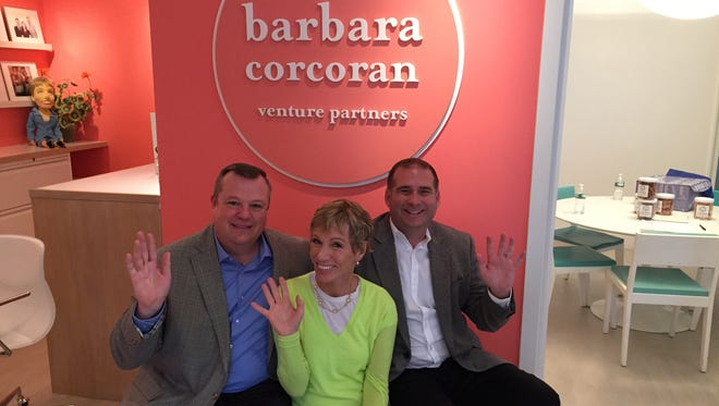 From left, Patrick Taylor, Barbara Corcoran and Robert Page.