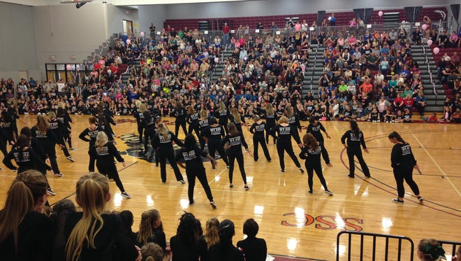 About 600 people crowded the Clemente Center at Florida Tech in Melbourne for Dance for a Cure on Jan. 10.