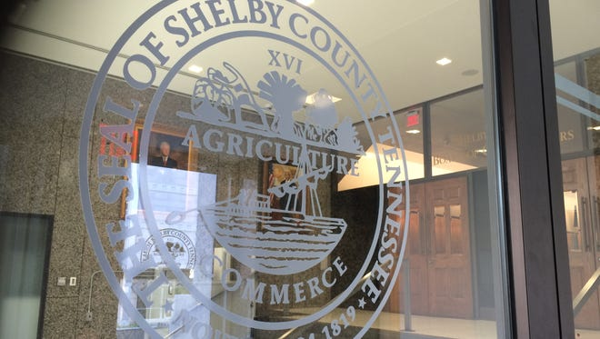The Shelby County seal adorns the doors leading to the Vasco A. Smith Jr. County Administrative Building at 160 N. Main.