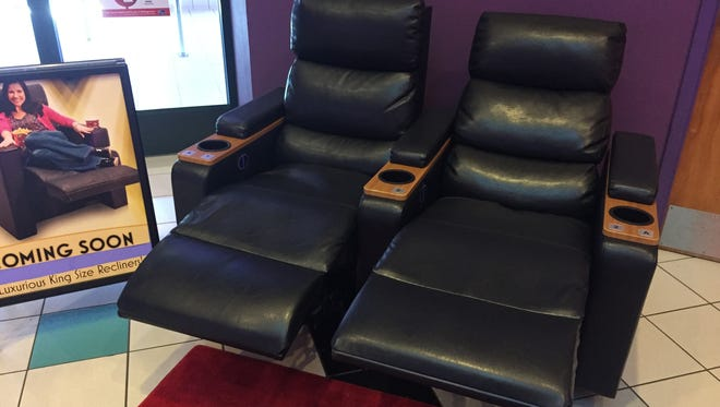 A photo of the recliners that will be installed at the Green Hills Stadium 16 theater.